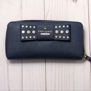 Kate Spade Navy Wallet: Slightly Used